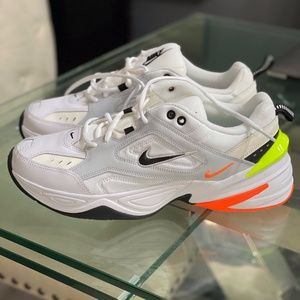 Nike M2K Tekno Pure Platinum Black Orange White